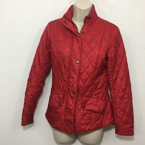 Barbour flyweight Calvary quilted Jacket red Sz 4